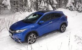 Honda HR-V 2018, blau, Seitenansicht