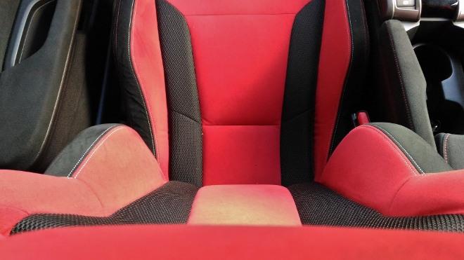Honda Civic Type R 320 hp, Seitenhalt der Sitze