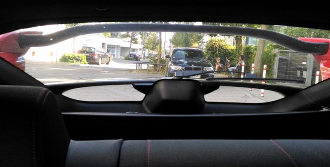 Honda Civic Type R 320 hp Aussicht nach hinten