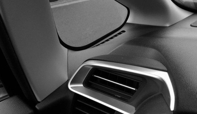 Honda Jazz Facelift Fenster in der A-Säule, Rundumsicht