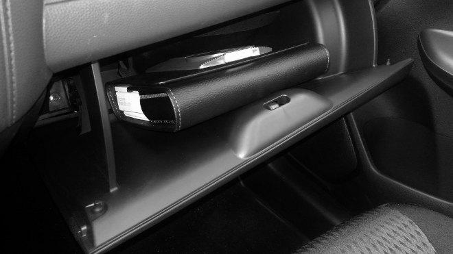 Honda Jazz Facelift Handschufach, genug Ablagen, Ablage