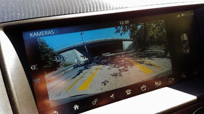 Jaguar F-Type Vierzylinder Kamera Übersicht, Rückfahrkamera
