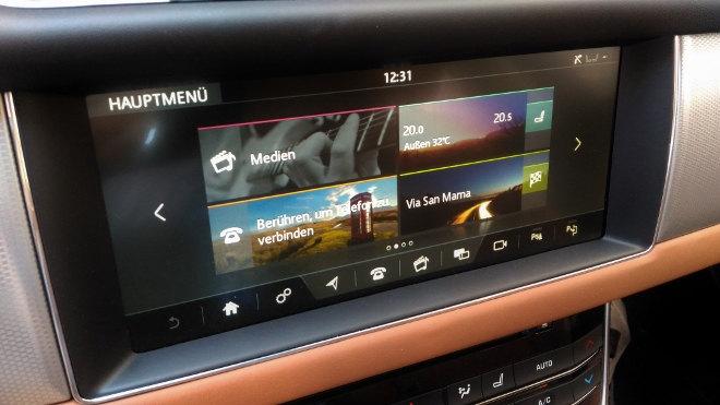 Jaguar XF Innenraum Monitor