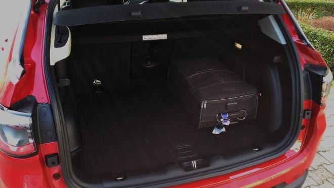 Jeep Compass neu, Kofferraum und Kofferraumiolumen