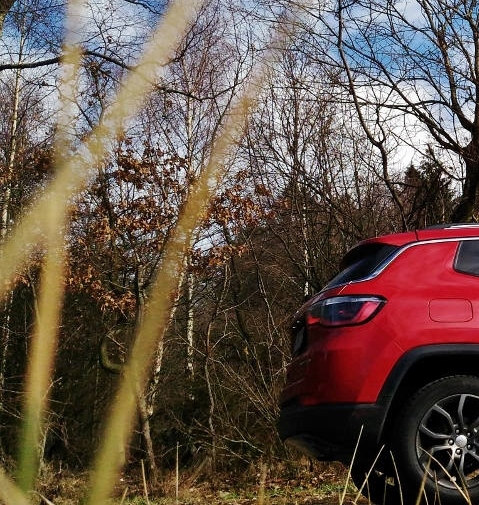 Jeep Compass 2 Limited Heck, in Rot