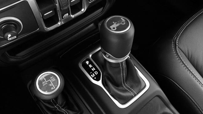 Jeep Wrangler Limited 4-door Schalthebel und Hebel offroad