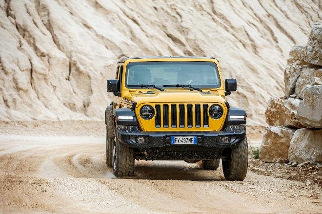 Jeep Wrangler 2.0 TGDi Rubicon Front 2019 gelb