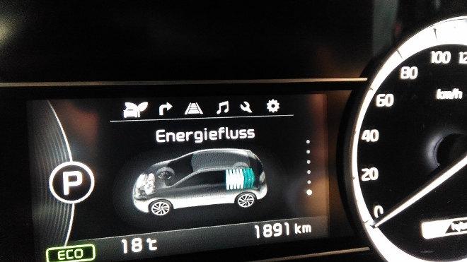 Kia Niro Hybrid Energiefluss Anzeige