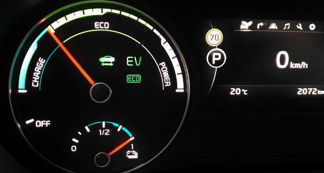 Kia Optima Kombi EV Anzeige Plug-in-Hybrid