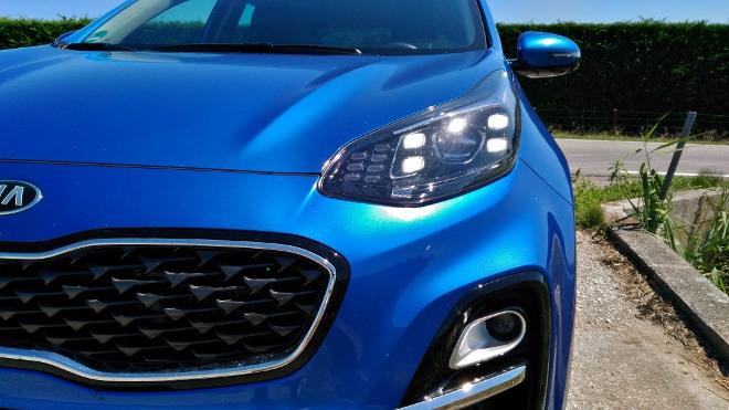 Kia Sportage Facelift Mild Hybrid Front und Scheinwerfer
