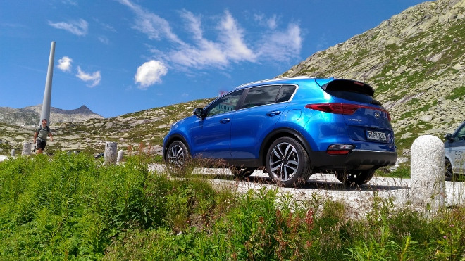 Kia Sportage Facelift blau