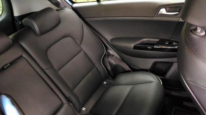 Kia Sportage Facelift Sitzbank mit schwarzer Lederpolsterung