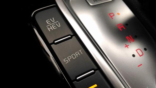 Kia Plug in Hybrid Test, HEV und EV modus