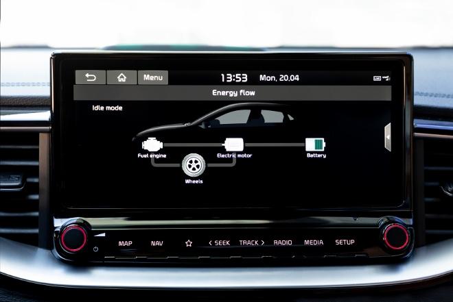 Kia XCeed Plug-in-Hybrid Energie Anzeige Bildschirm