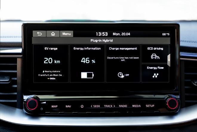 Kia XCeed Plug-in-Hybrid Elektroanzeige
