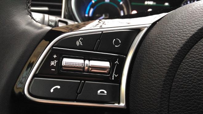 Kia Plug in Hybrid Test, Taste Spracherkennung und Telefon