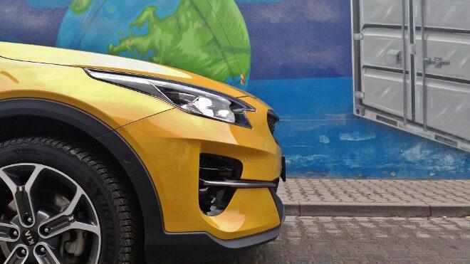 Kia Plug in Hybrid Test, Frontpartie und Scheinwerfer