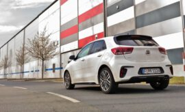 Kia Rio GT Line in weiss, Heck Diffussor