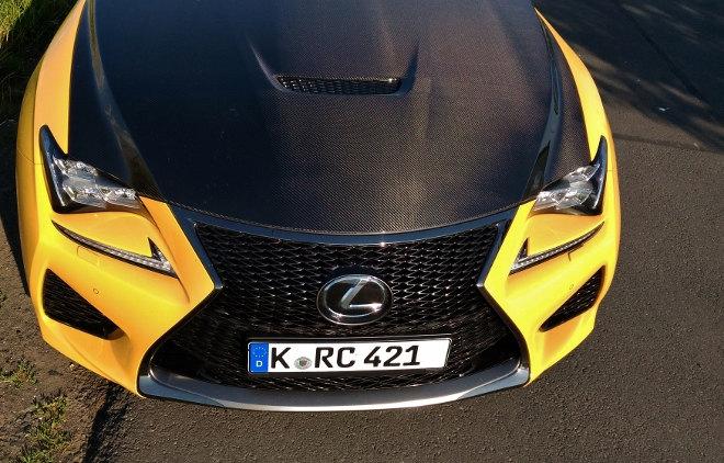 Lexus RC F Carbon Motorhaube Gelb