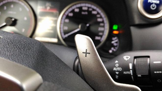 Lexus NX 300h Hybrid Paddles