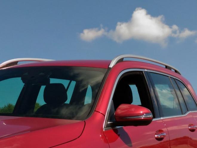 Mercedes GLB 220d hohe Scheiben, gute Rundumsicht, Sicht