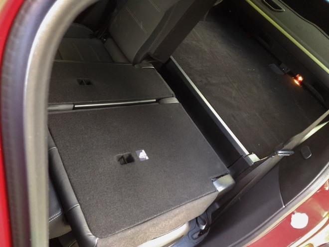 Mercedes GLB 220d umgeklappte Sitzbank