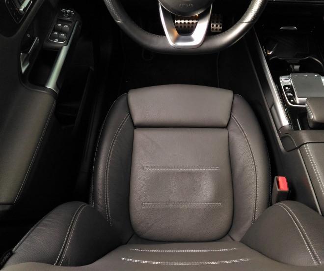 Mercedes GLB 220d Vordersitz, Polsterung und Seitenhalt