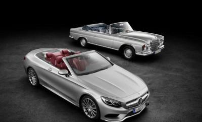Mercedes-Benz S-Klasse Cabrio von 2015 und das S-Klasse Cabrio der Baureihe W 111