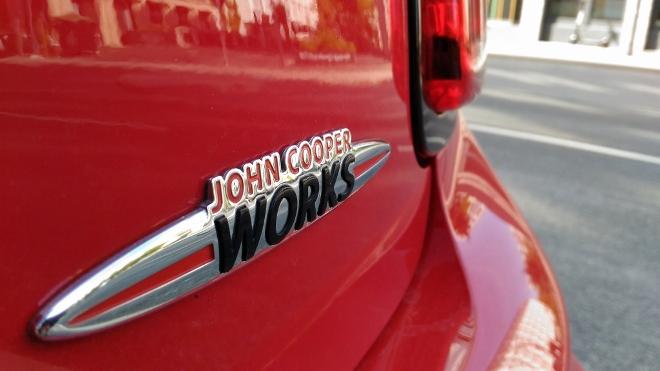Typenschild Mini Cabrio John Cooper Works