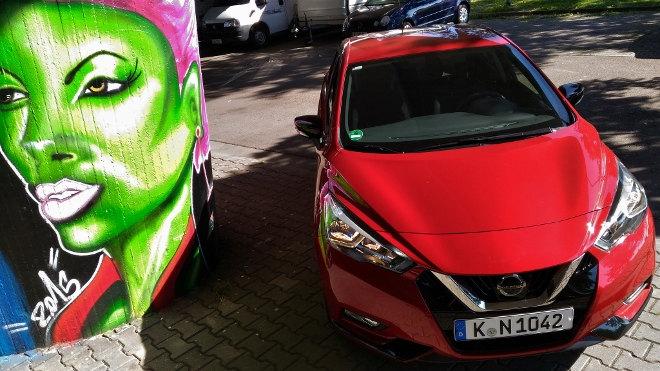 Nissan neuer Micra Test Front