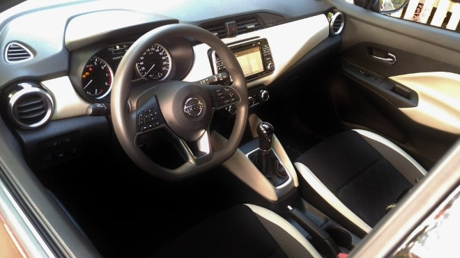 Nissan neuer Micra Innenraum