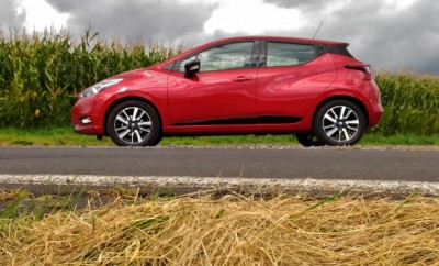 Nissan neuer Micra rot