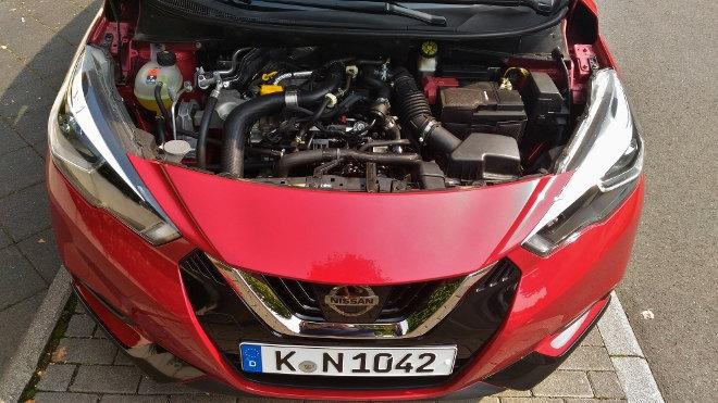 Nissan neuer Micra Innenraum Motor