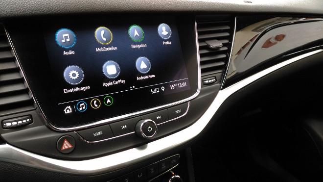 Opel Astra Facelift 8-Gang-Automatik Menü Touchscreen