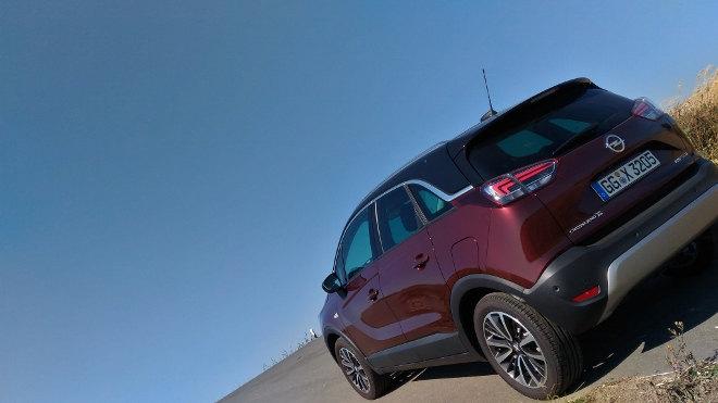 Opel Crossland X Heck, Seite, Seitenansicht