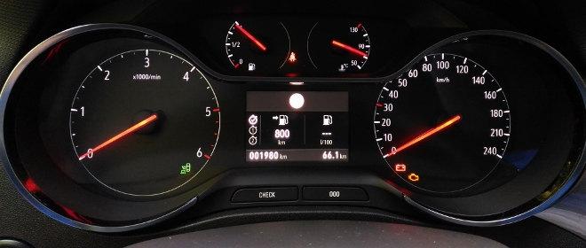 Opel Crossland X Tacho, Drehzahlmesser