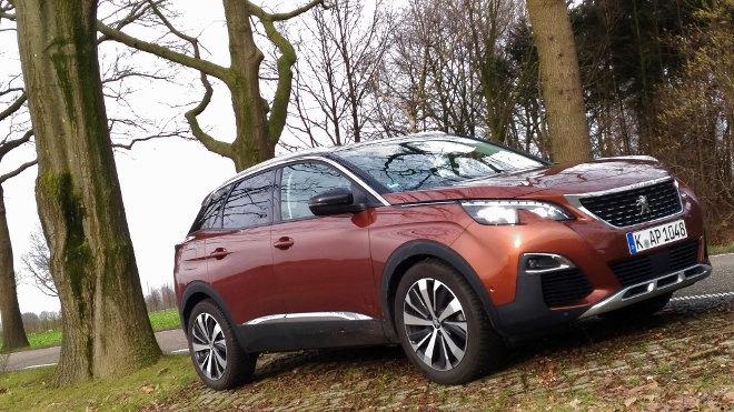 Peugeot 3008 braun, Seitenansicht, Front, Grill