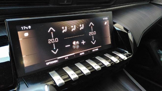 Peugeot 508 GT Tasten und Mittelkonsole