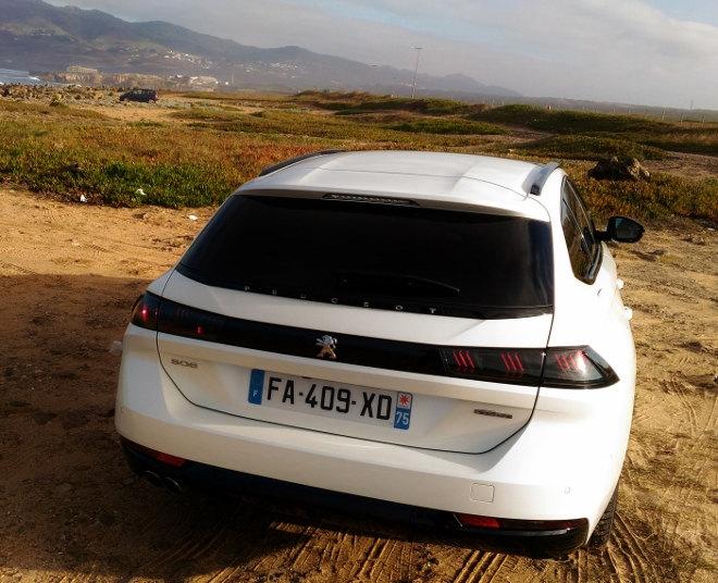 Peugeot 508 SW weiss Heckansicht 2019