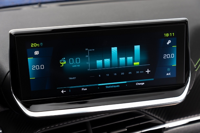 Neuer Peugeot 208 Elektro, Bildschirm