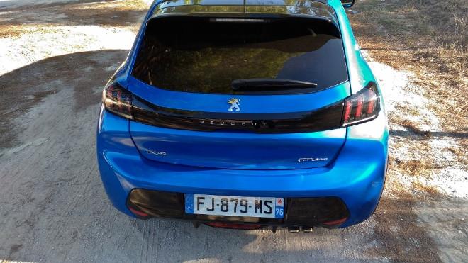 Neuer Peugeot 208, Heck blau