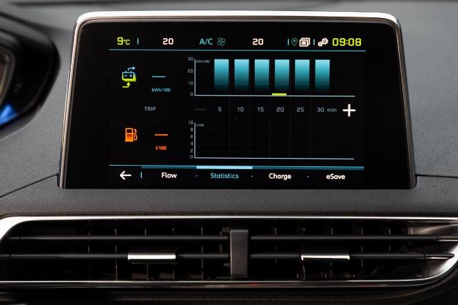 Peugeot 3008 Hybrid4 Verbrauchsanzeige i-Cockpit