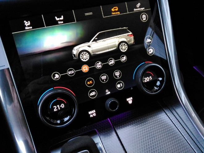 Range Rover Sport P400 Touchscreen Tasten