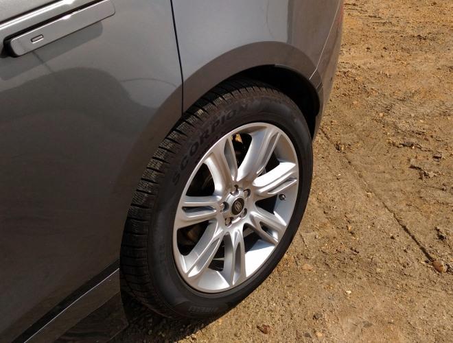 Range Rover Velar Tiefposition der Luftfederung, tief