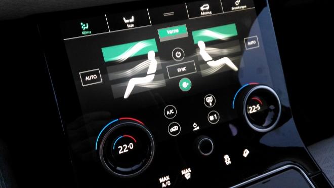 Range Rover Velar Bildschirm Heizung