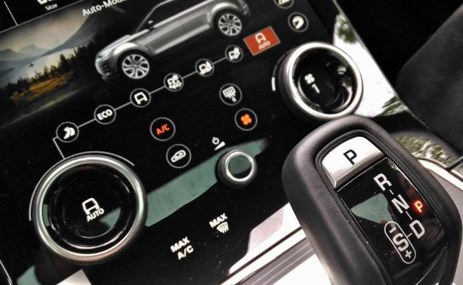 Neuer Range Rover Evoque D240, Bildschirme
