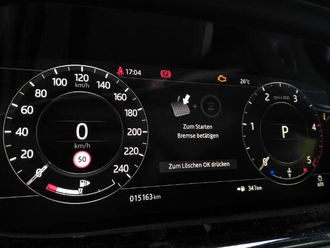 Range Rover Evoque 2 Instrumente digital