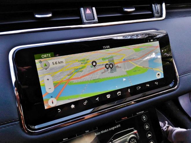 Range Rover Evoque neuer: Navigation und Navikarte