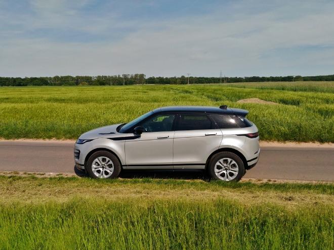 Range Rover Evoque neuer: seitenansicht des D240 AWD