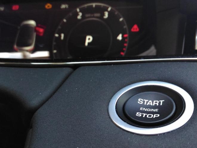 Range Rover Evoque neuer: Startschalter für den Motor